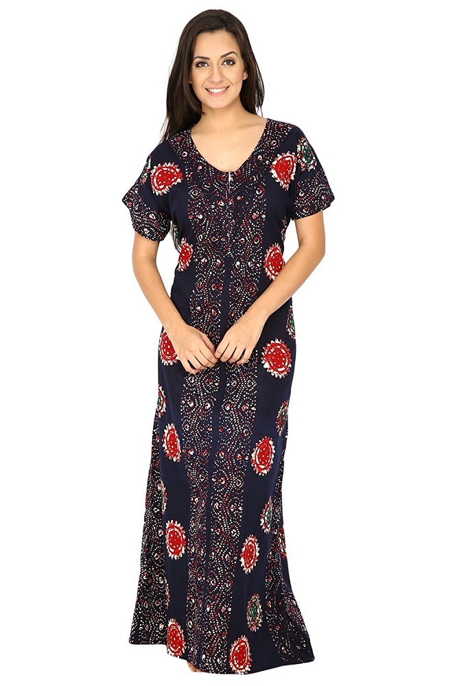 ff1a2c0022 Buy Women's Cotton Nighty, Nightdress (Free Size) - Secret Wish ...