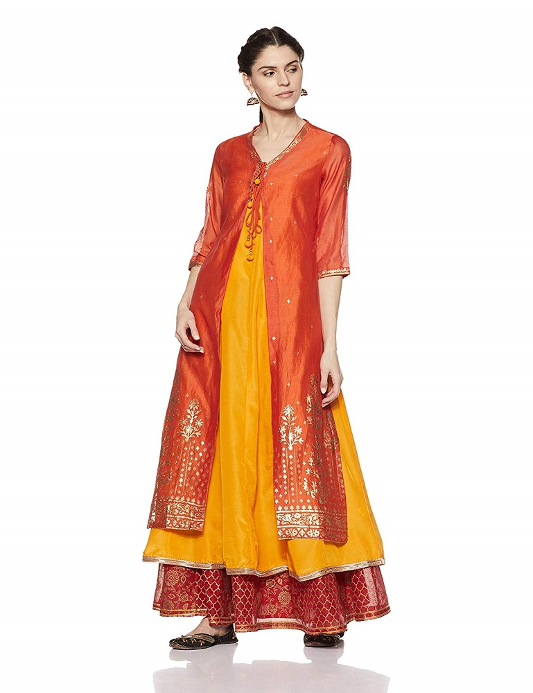 f8b443f2a6f Buy Angrakha Kurta For Women - BIBA Online at Best Price in India