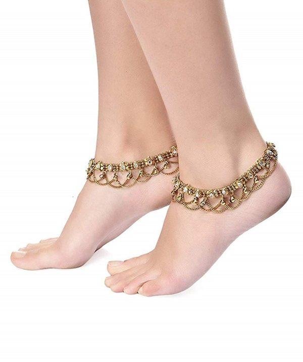Antique Kundan Payal Anklet