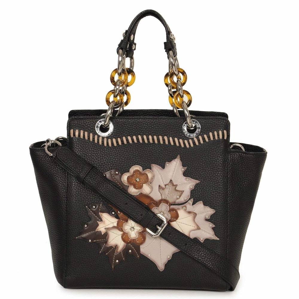 00641fc6211 Buy Women s Black Handbag - Da Milano Online at Best Price in India