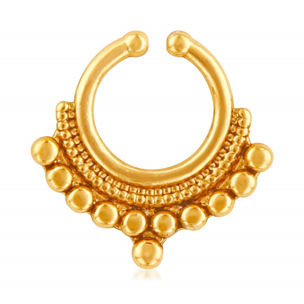 Buy Ethnic Gold Plated Nose Ring For Girls Women Nr1100164g Mahi Online At Best Price In India