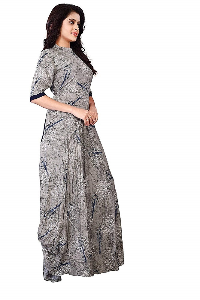 b76406eebe4 Buy Heavy Rayon A-line Party Wear Kurta For Women - Royal Export ...