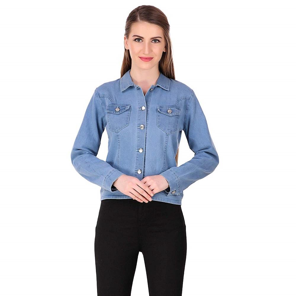 c48450d47c1b Buy Light Blue Denim Jacket For Women - Girl s Shopping Online at ...