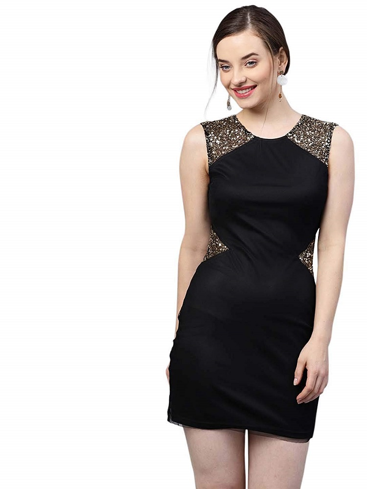 23a8f03c6 Buy Sparkle Embellished Dress - STREET9 Online at Best Price in India