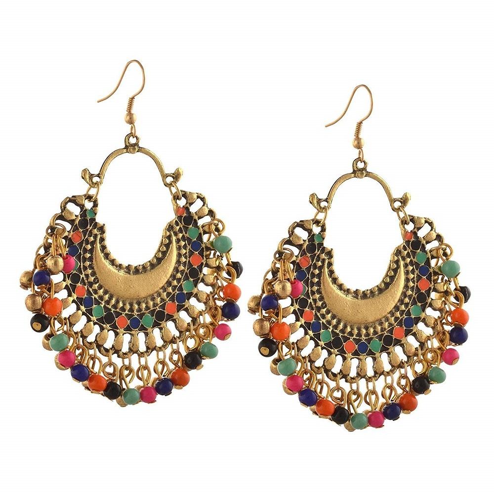 f9b0f1058 Buy Gold Bohemian Stylish Afghani Tribal Oxidised Fancy Party Wear ...
