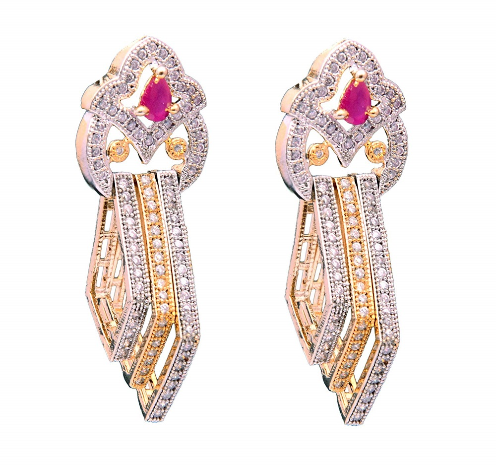 f5921499c93 Buy Valentine Collection AD Design Dangle Artificial Earrings ...