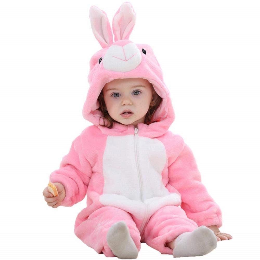 76e9c335b5b8 Buy Cute Animal Jumpsuit Soft Hooded Baby Romper Winter Zipper ...