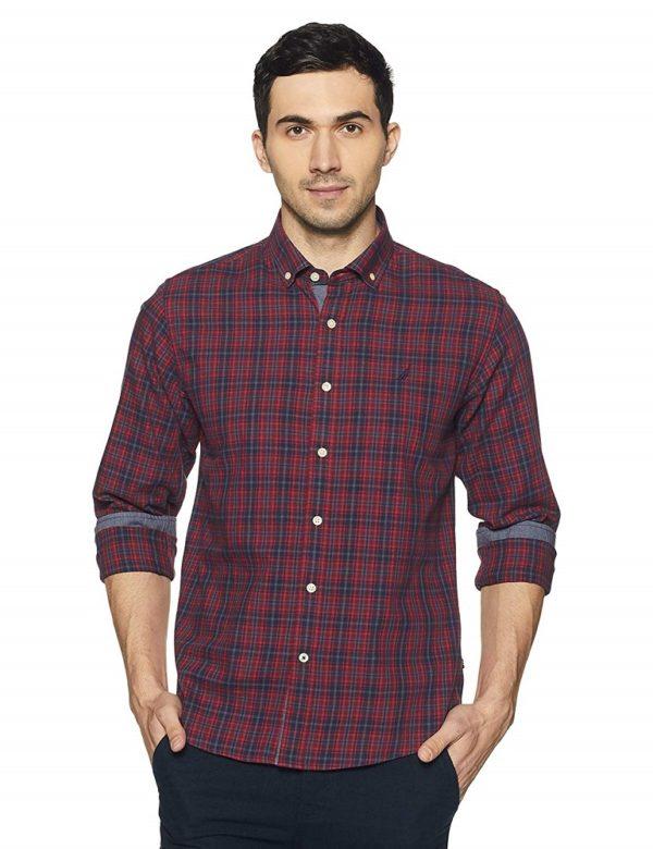 Checkered Slim Fit Casual Shirt - Nautica