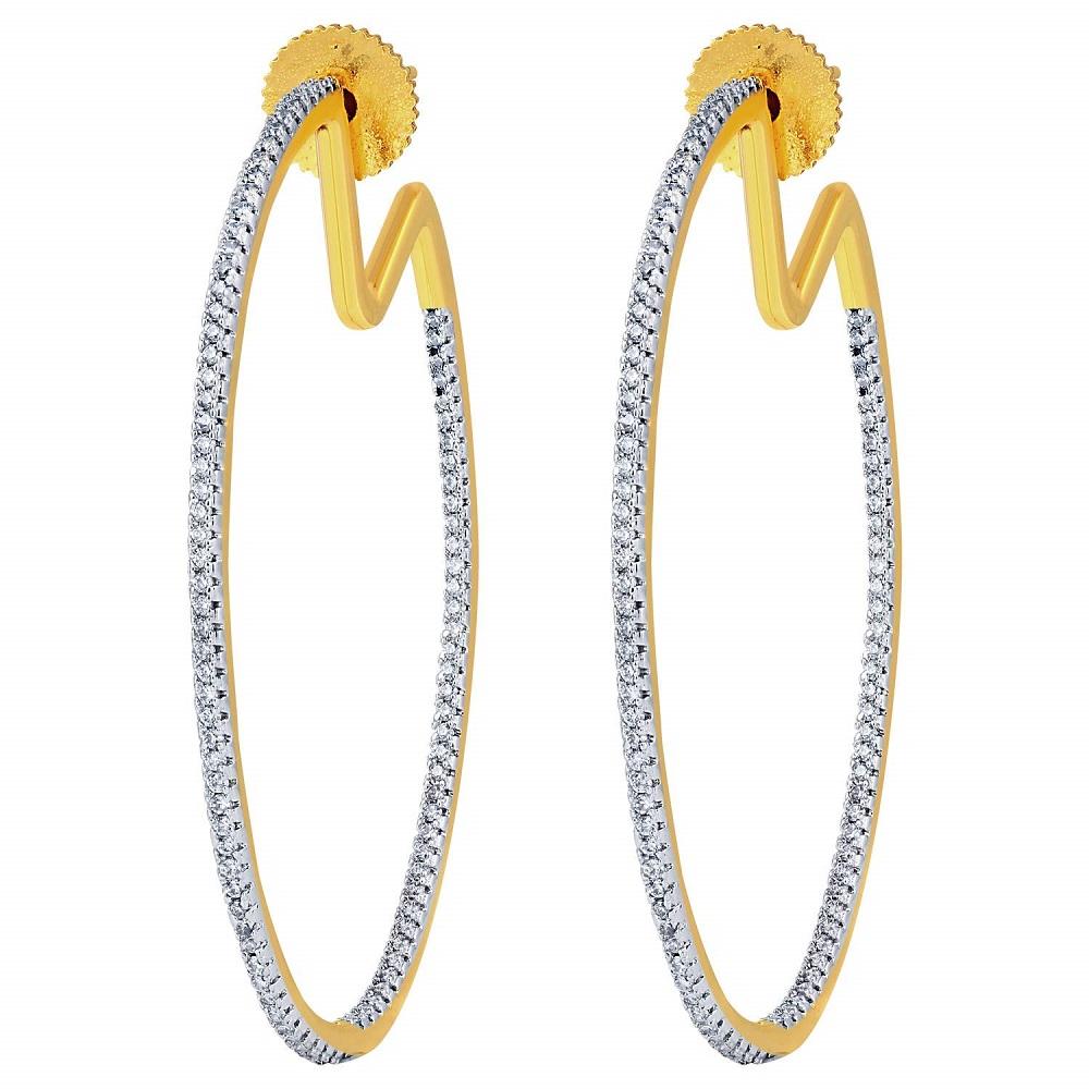 2624bd9eb Buy Party Wear Fancy 18K Gold Plated U Shape Drop Earrings For Girls ...
