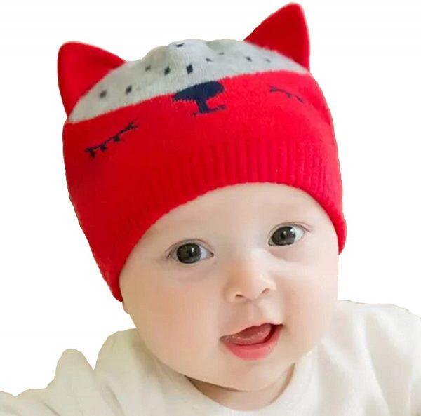 Knitted Cartoon Cat Caps
