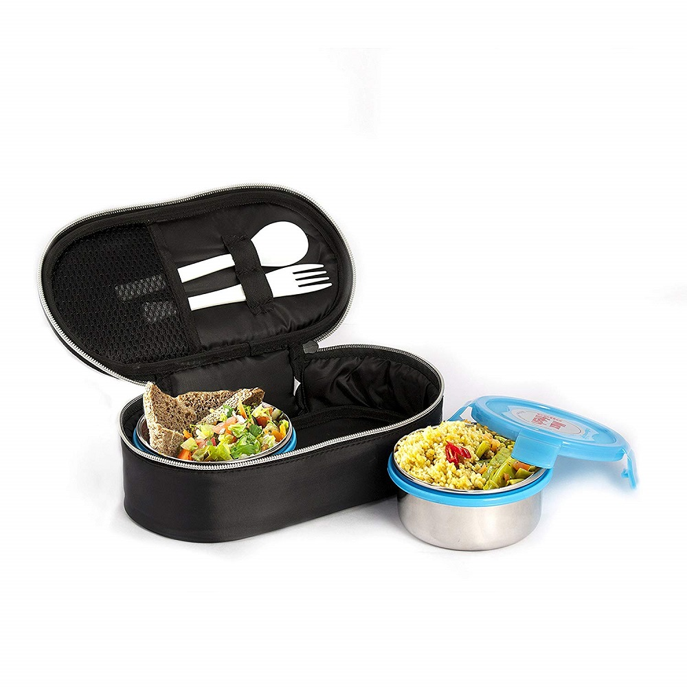 e33cd7f5020 Buy Max Blue Fresh Click Steel Lunch Box Set (300ml