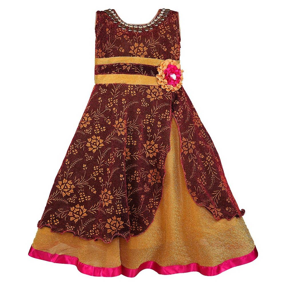 c352d9472fafe Buy Net Party Wear Baby Girls Frock Dress (LF145) - Wish Karo Online ...