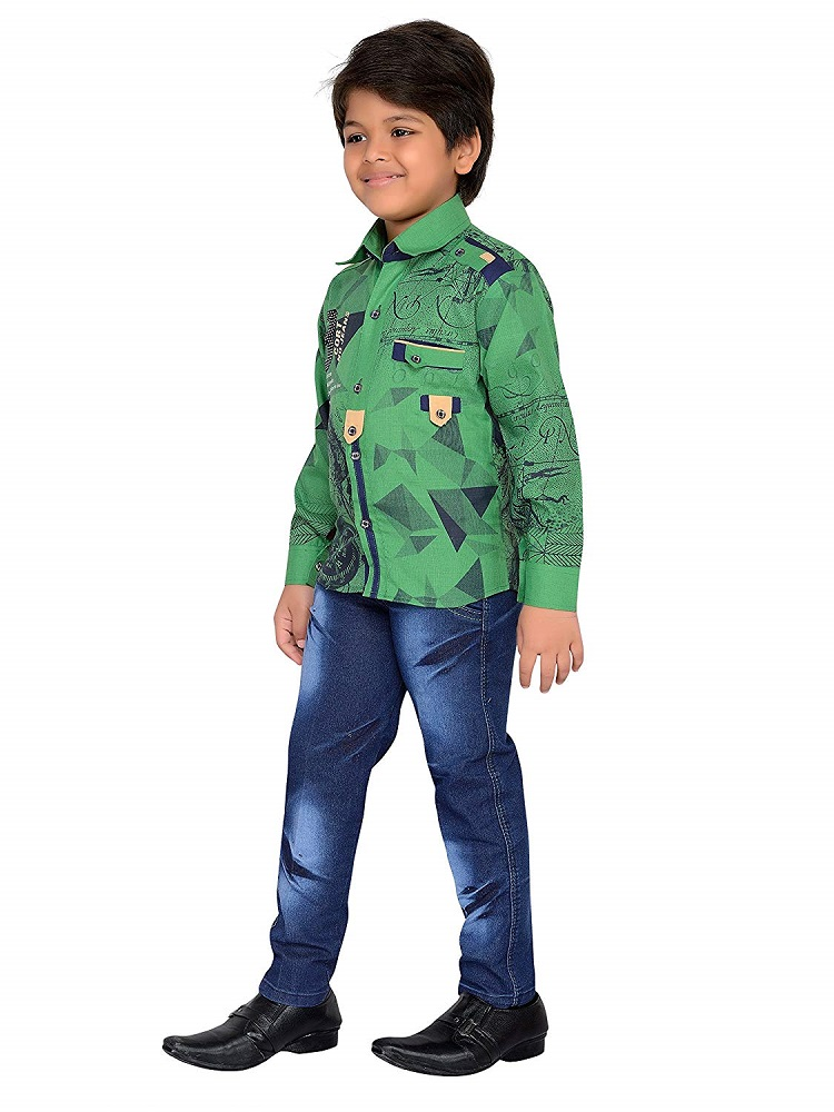 8ae4f6f36 Buy Kids Boys Party Wear Shirt   Jeans Clothing Set - AJ Dezines ...