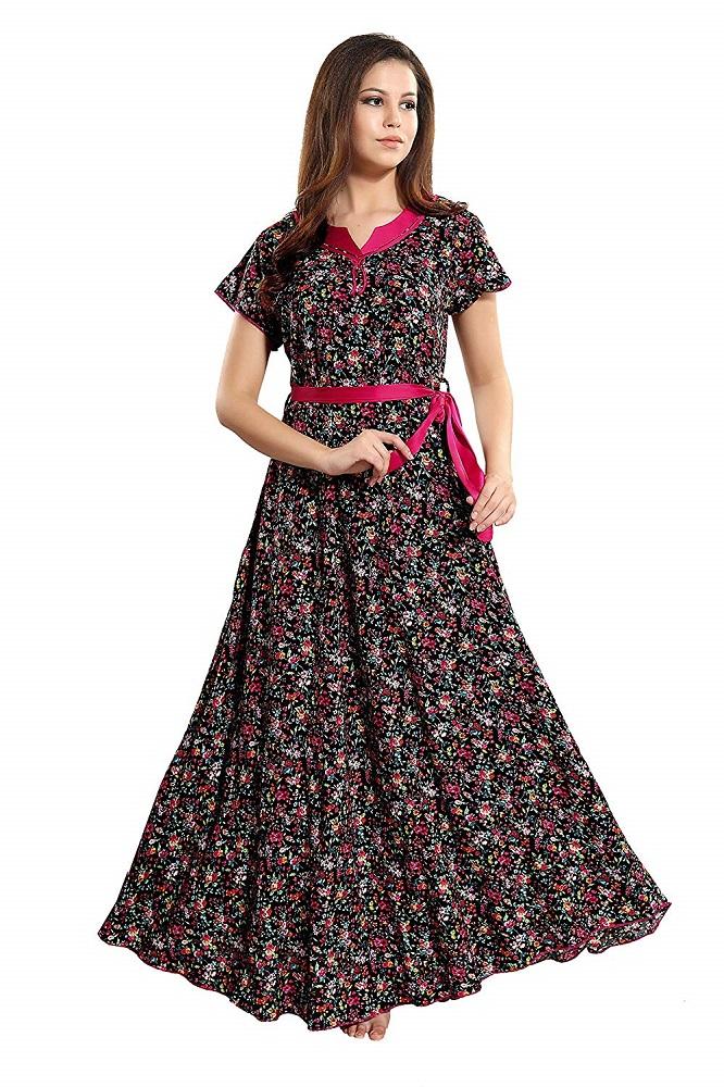 738d5bd40 Buy Rayon Printed Nightwear Maxi Length Night Dress 1199 - AV2 ...
