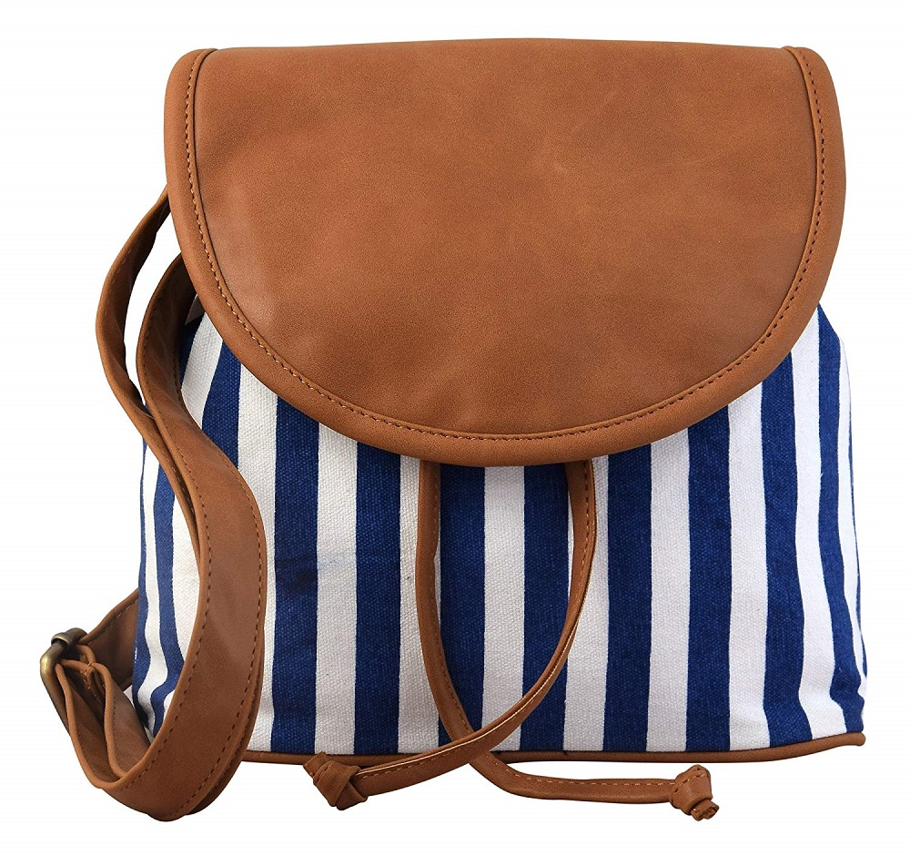 7269281da9d24 Buy PU Amie/Canvas Sling Bag For Girls - Lychee Bags Online at Best ...