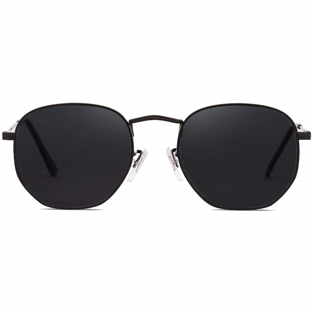 eac61a3d02 Buy Classic Small Square Polygon Sunglasses With Mirrored Lens For ...