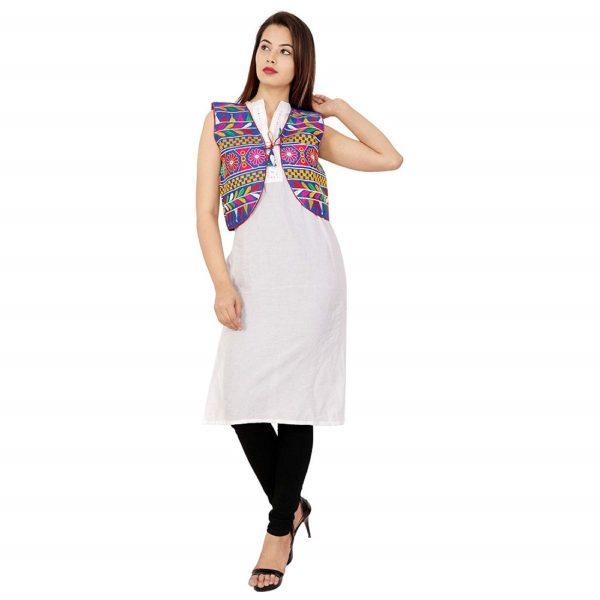 Cotton Kutchi Waist Jacket