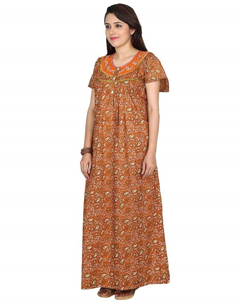 a5ecb41c7d Buy Full Length 100% Cotton Nightwear For Women - Nighty House ...