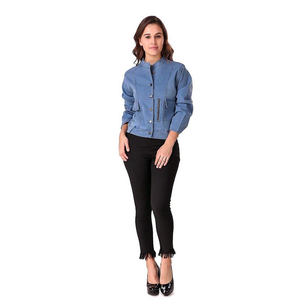 6e5d4d4ed47e Buy Full Sleeve Solid Women Denim Jacket - Denim Factory Online at ...