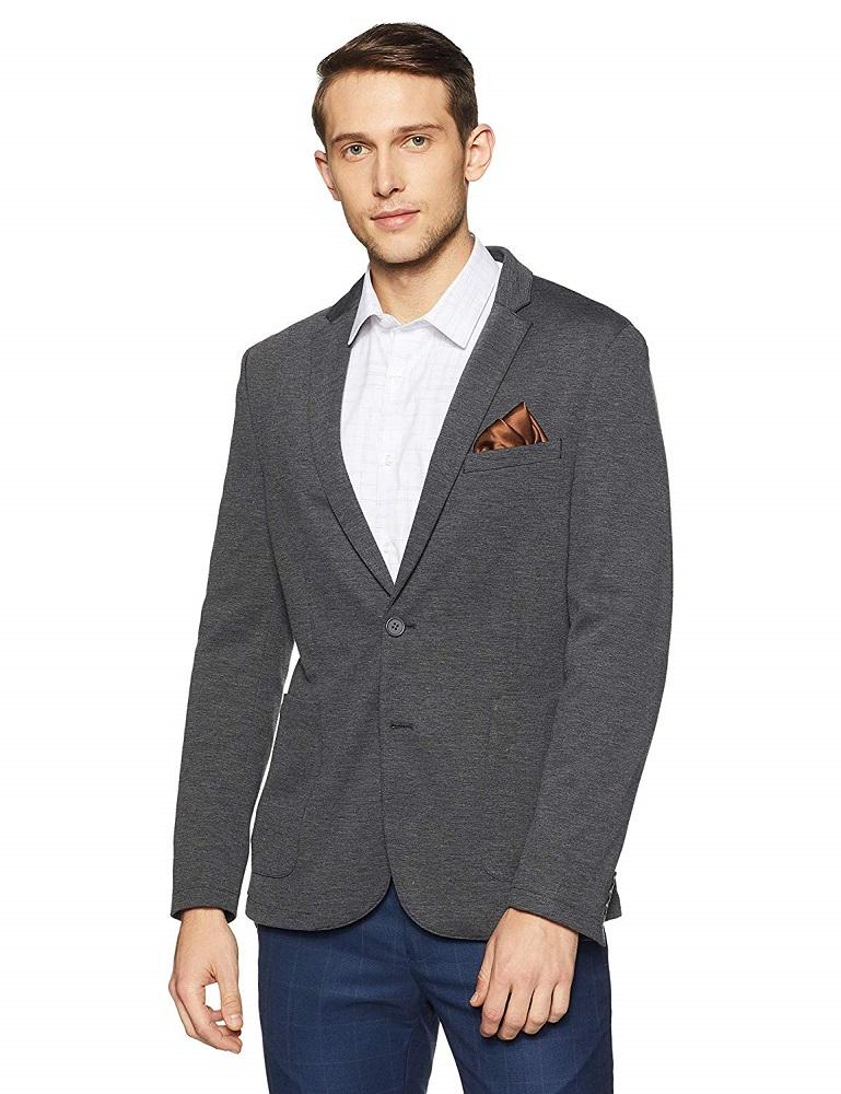 c006e3883eab Buy Notch Lapel Slim Fit Blazer For Men - Peter England Online at ...