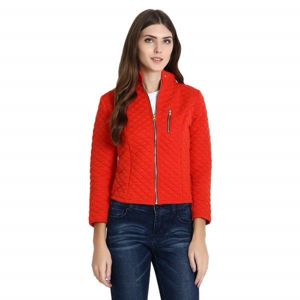 Quilted Jacket with Chain