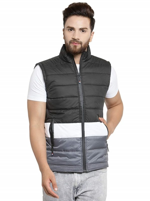 Quilted Sleeve Less Jacket