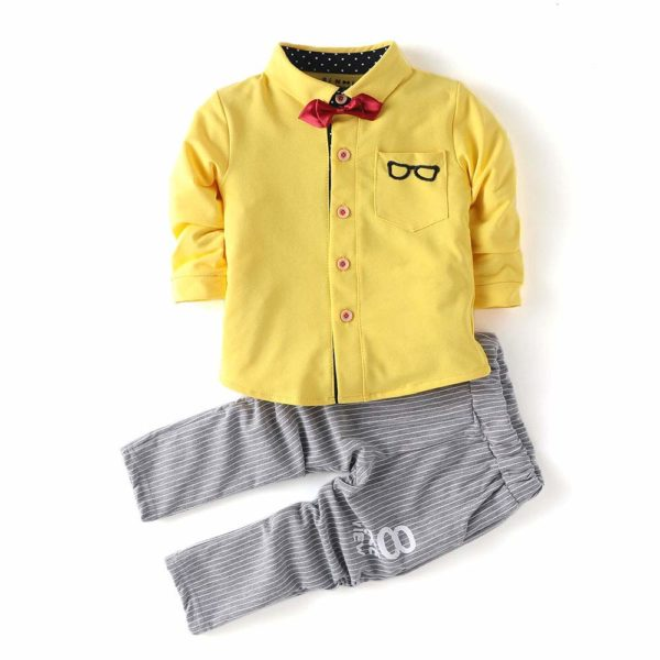 Specky Yellow Shirt & Pant Set