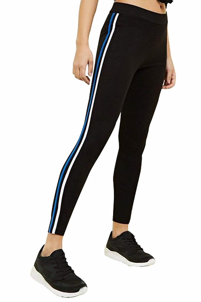 8cf5779ddd32a Buy Women's Active Sports Fitness Stripe Tights For Yoga & Gym ...