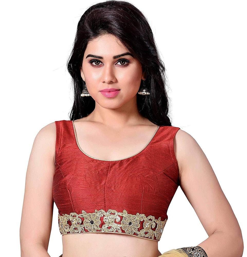 be2daa77d1391b Buy Women s Silky Sleeveless Blouse - Studio Shringaar Online at ...