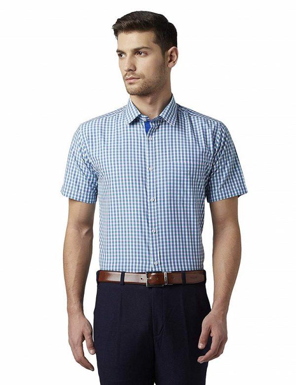 Checkered Slim Fit Formal Shirt