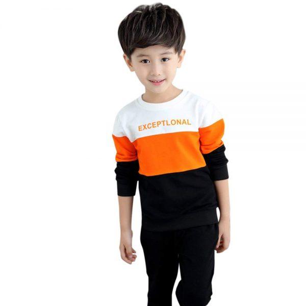 Orange Colour Dacron Pant Set