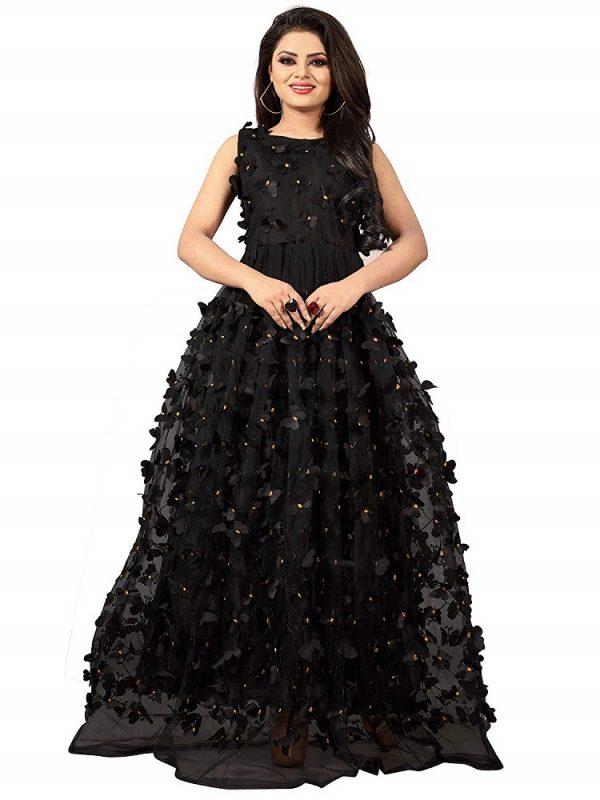 Chanderi Cotton Anarkali Gown