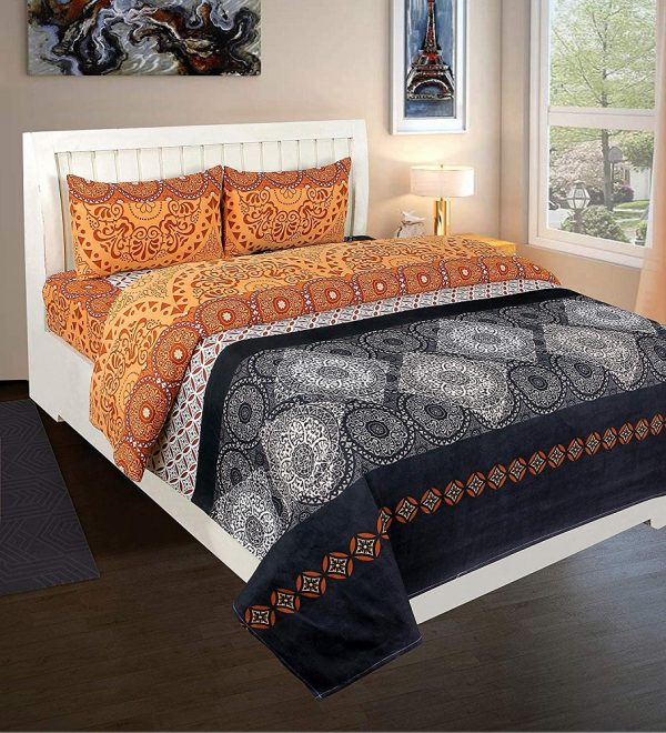 100% Poly Cotton Double Bedsheet