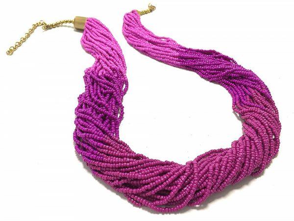 Glass Fuchsia Torsade Necklace