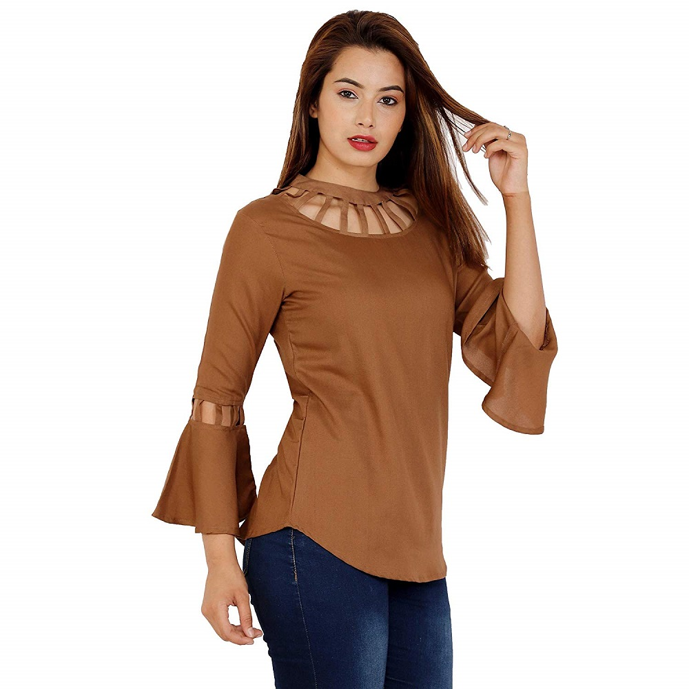 4ed51fab20acee Buy Plain Regular Fit Top For Women - Fab Star Online at Best Price ...