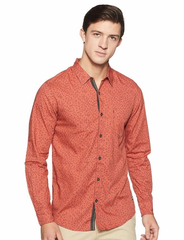 Printed Slim Fit Casual Shirt