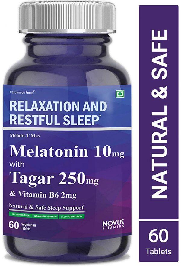 Carbamide Forte Melatonin 10mg with Tagara 250mg & Vitamin B6 2mg