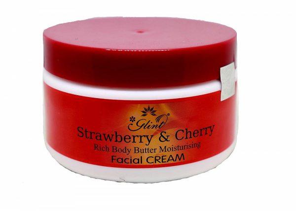 Glint Strawberry & Cherry Rich Body Butter Moisturising Facial Cream