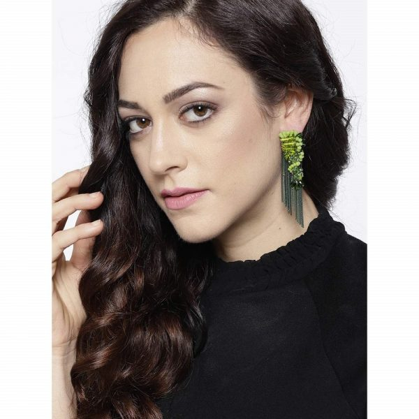 Luxuria Edition Exquisite Sparkling Chain-Drop Tassel Earrings